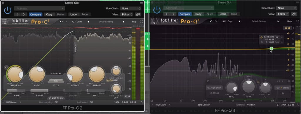 Some light compression and EQ is okay to use on your master output.