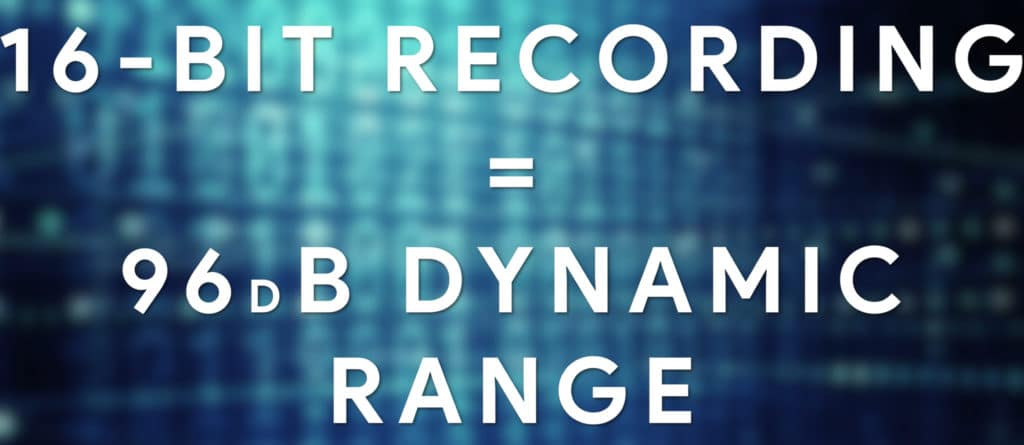 The bit-depth is directly tied to the recording's dynamic range.