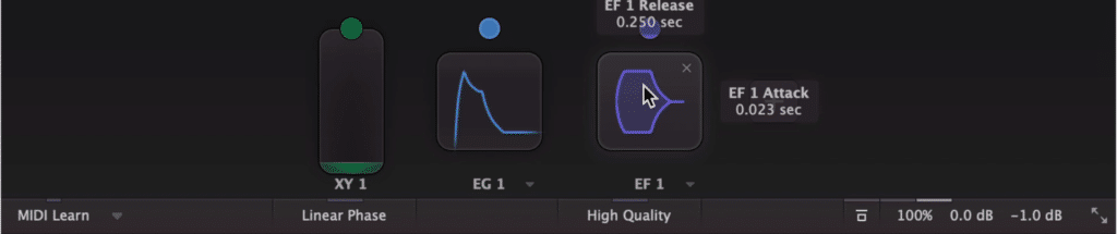 At the bottom of the plugin you can introduce modulation.