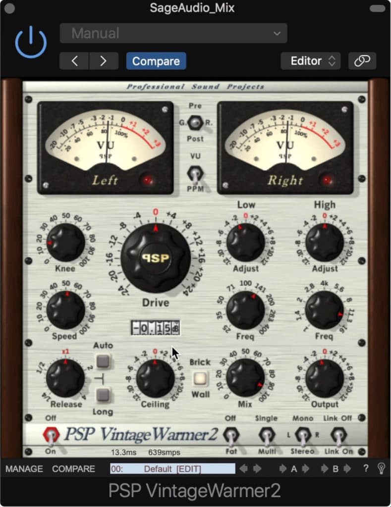 The PSP Vintage Warmer 2 has been a popular saturator and limiter for nearly a decade.