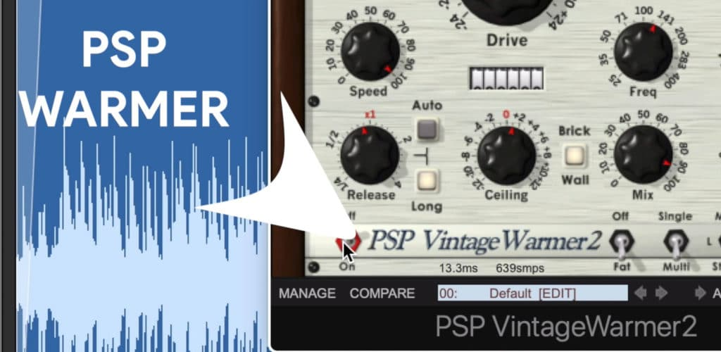 The warmer section at the bottom of the plugin introduces analog emulation.