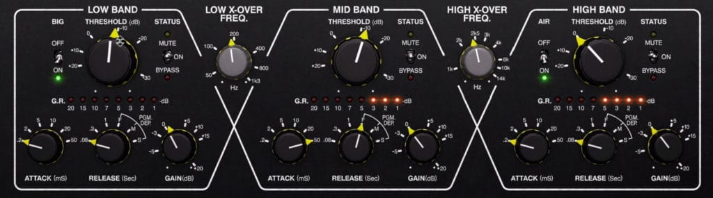 The Drawmer 1973 separates the signal into 3 bands.