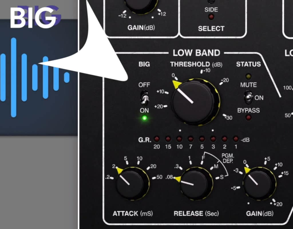 The Big function adds low frequencies back in after compression.