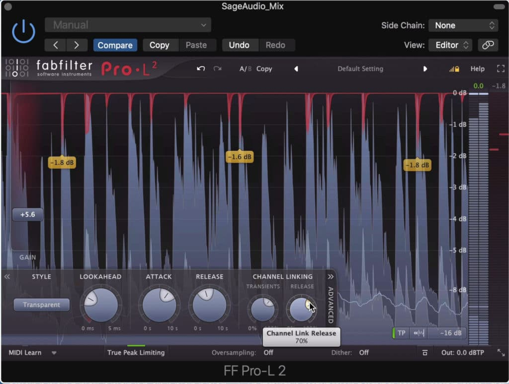 The FF Pro-L 2 offers multiple limiting options.