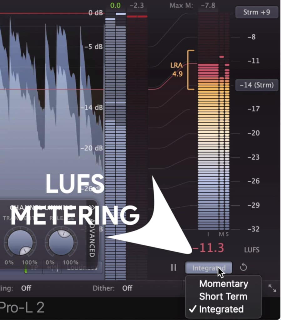 LUFS Metering and other forms of metering are available in the plugin.