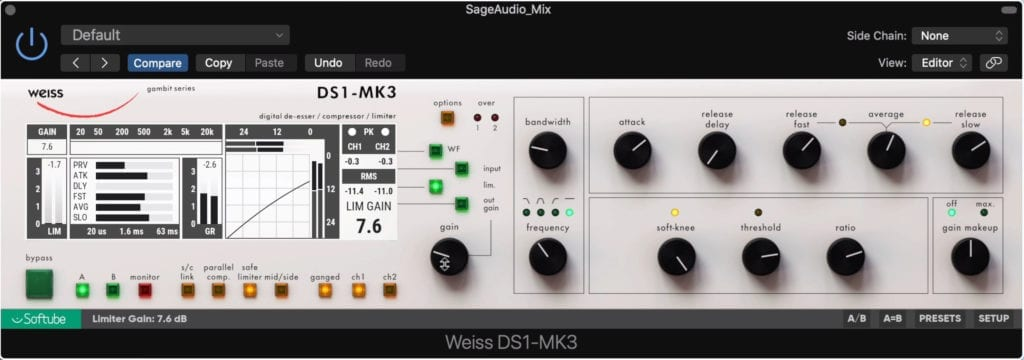 The DS1-MK3 is an incredible sounding compressor and limiter.