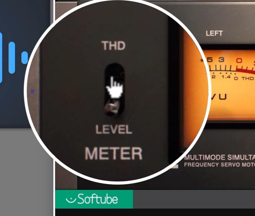 A THD meter lets you see how much distortion is occurring.