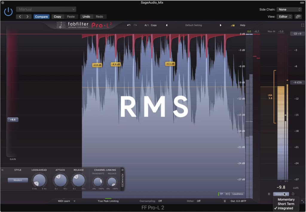 Because Spotify measures in RMS, it may adjust signals slightly different than services that measure in LUFS.