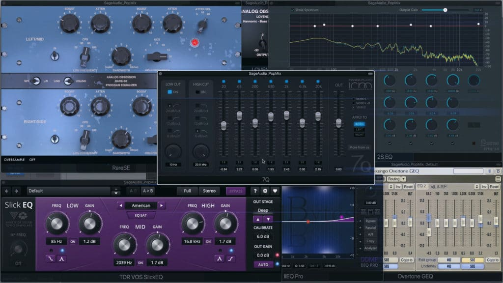 A go-to mastering EQ is helpful when mastering.
