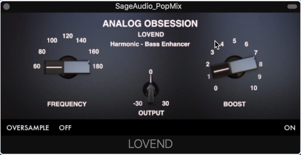 Lovend is a low-frequency exciter.