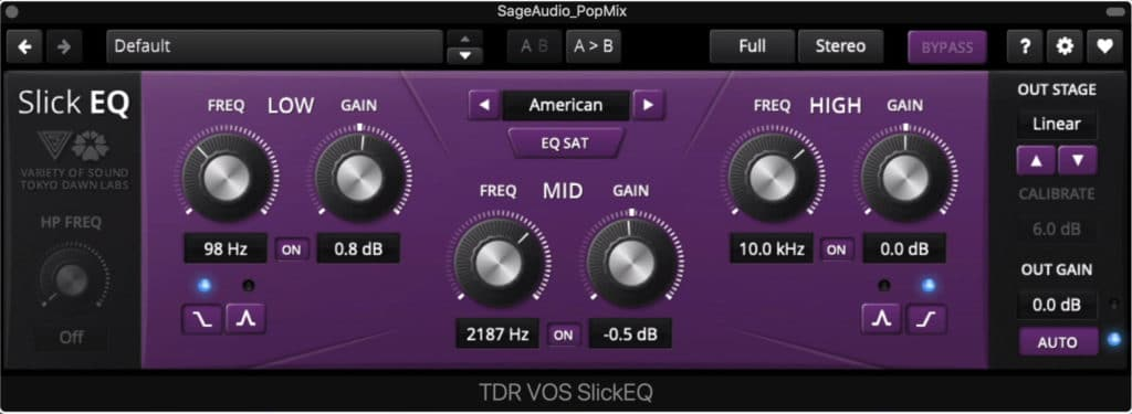 Slick EQ is a dedicated mastering equalizer.