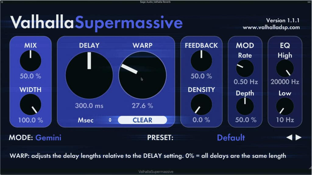 The Valhalla Supermassive may be the best free reverb plugin available.
