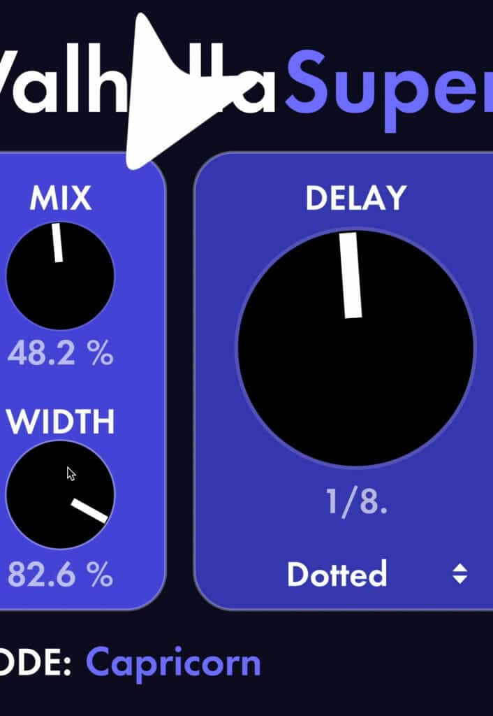 The mix is your wet/dry and the width is the stereo width.
