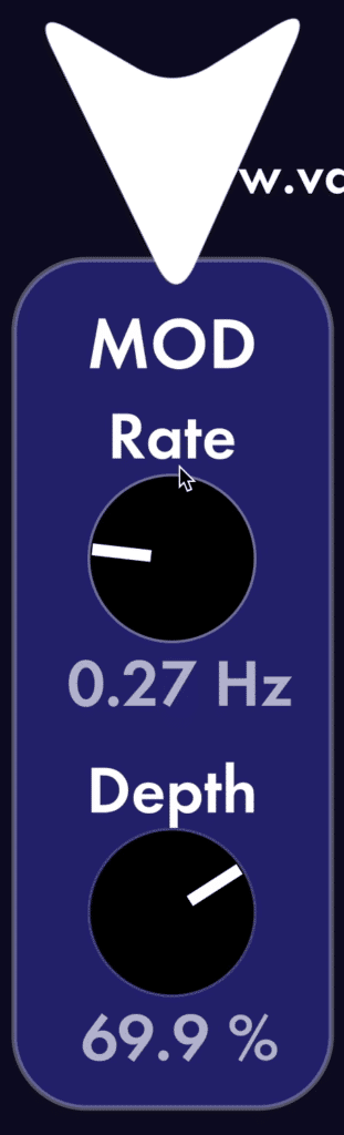 Modulation and depth allow you to vary the frequency of the reverb slightly.