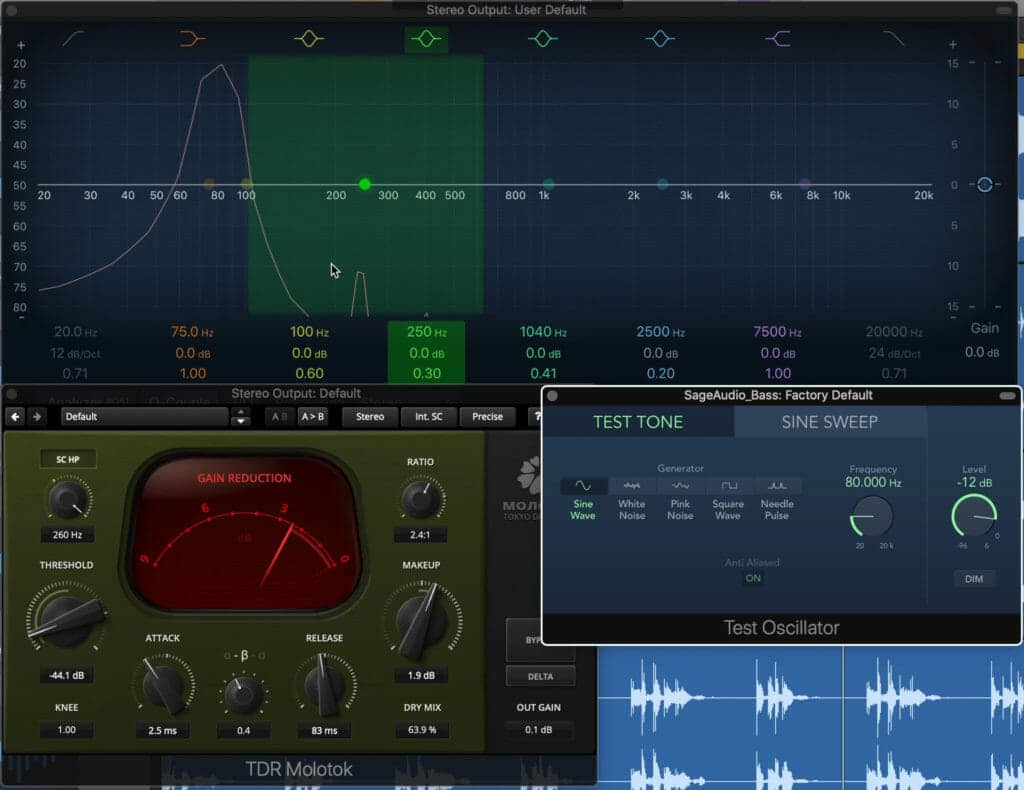 We'll use an 80Hz sine wave to see how the plugin distorts the signal.