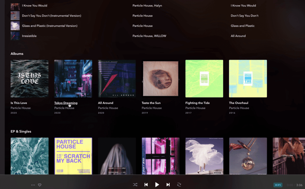 Because Tidal uses lossless files, you'll rarely run into aliasing, clipping, or other forms of audio degradation.