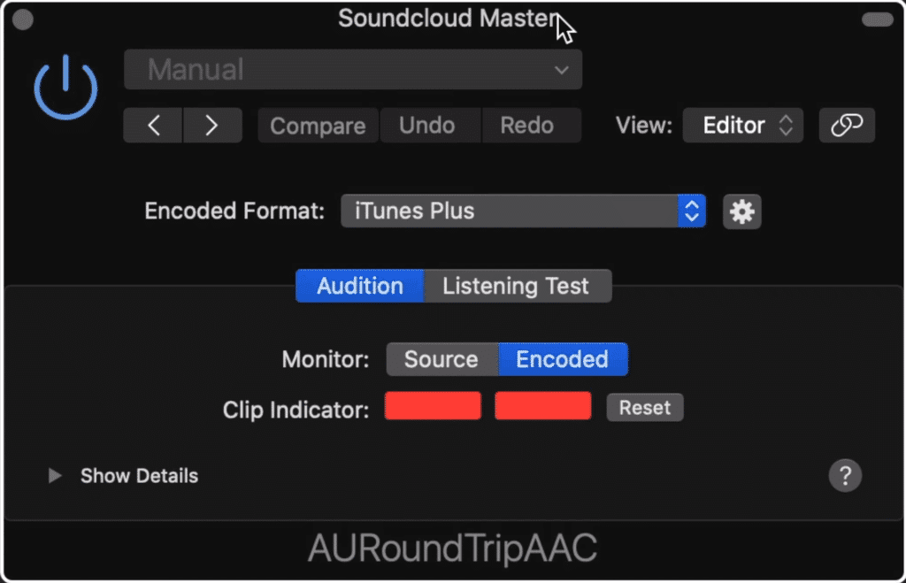 The plugin, RoundTripAAC shows you if your master will clip once it's converted to an AAC file.