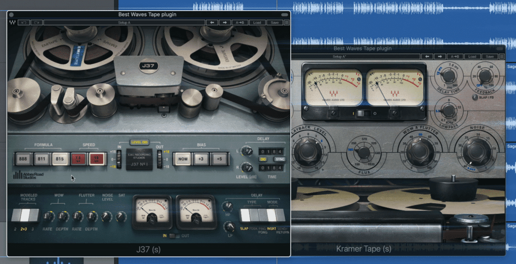 Both the Waves J37 and Kramer Tape plugins have been a go-to for many engineers.