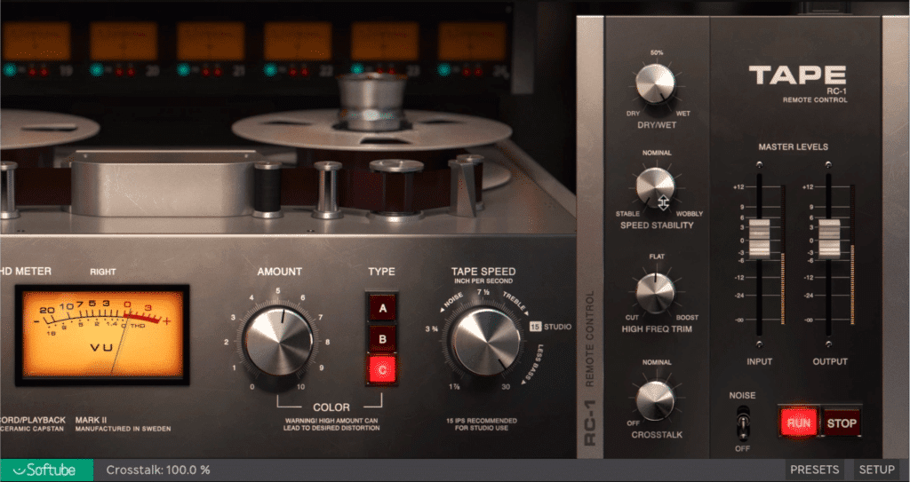 By clicking the RC-1 banner, you'll find more functions for the plugin.