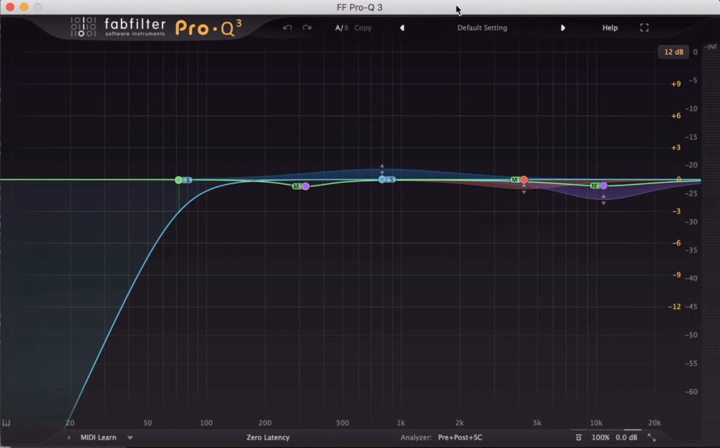 For example, your mastering equalizer can be routed into the plugin.