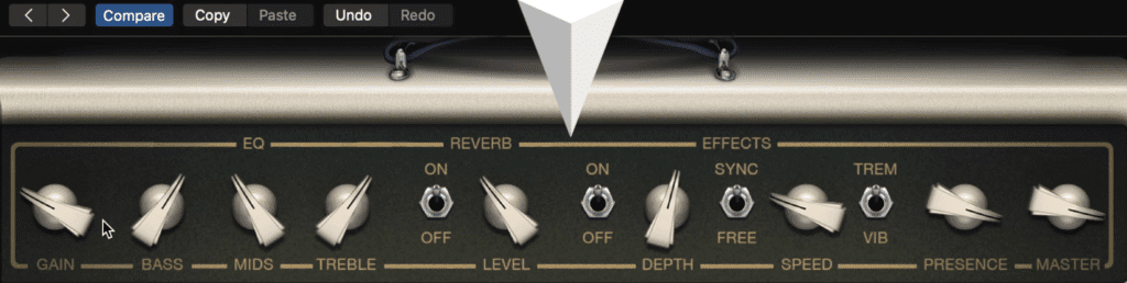 Each amp utilizes unique settings that can be altered.