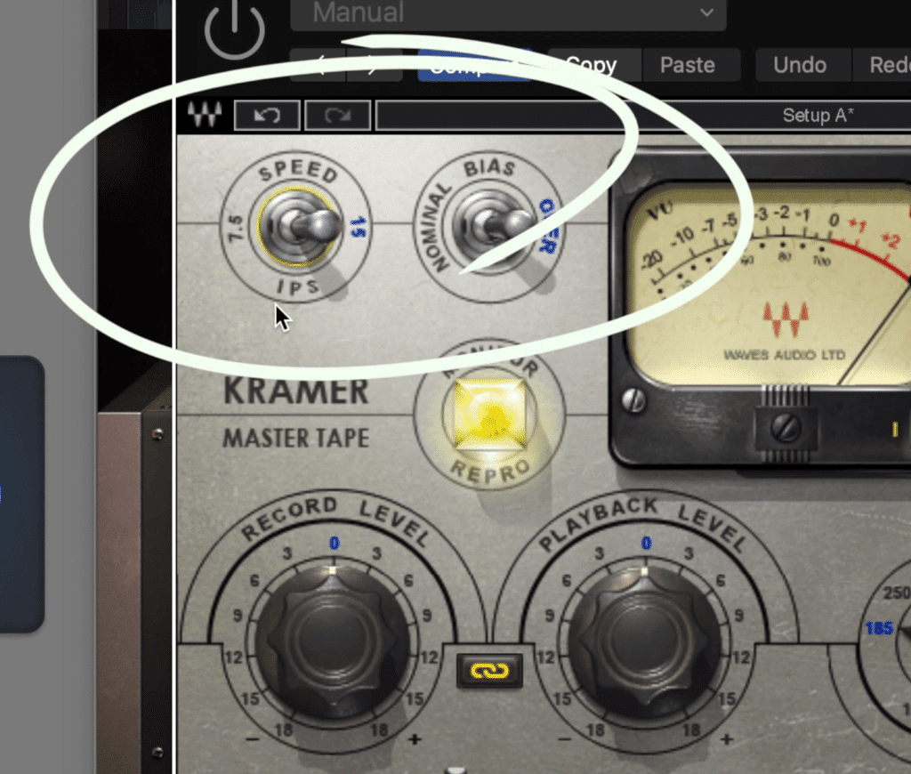 If you use a plugin with a lower tape speed, you won't notice much of a difference.