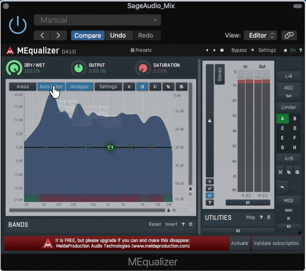 The MEqualizer gives you a surprising amount of freedom for being a free plugin.