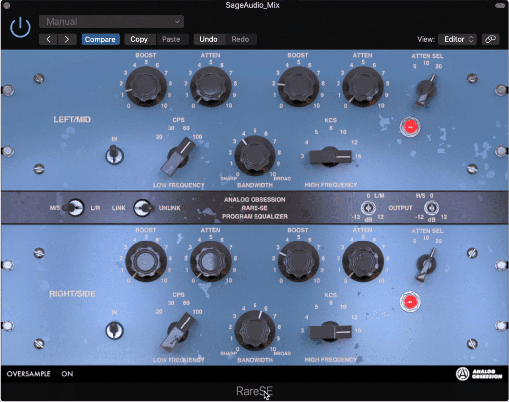 The RareSE is a great free Pultec emulation that utilizes mid-side processing.
