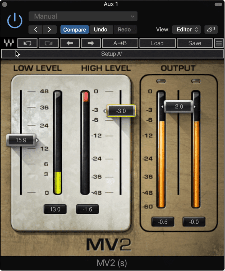 Using parallel low-level compression on the high frequencies adds clarity quickly.