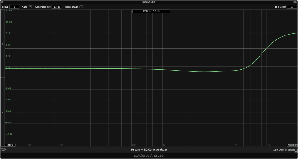 The EQ Curve Analyzer lets you measure the frequency curves created by other plugins