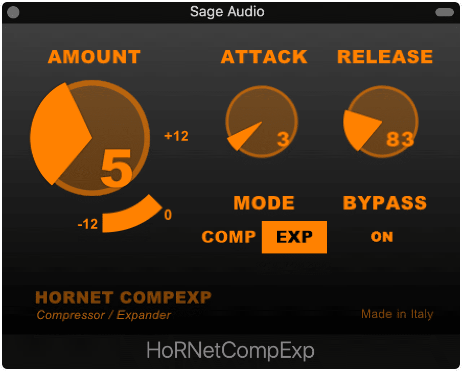 CompExp is modeled on telecommunication chips used to reduce background noise.  It makes for an interesting and stylistic effect when mixing.