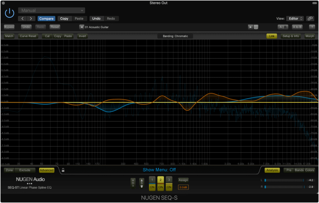The Nugen SEQ-ST lets you draw the curve into your equalizer.