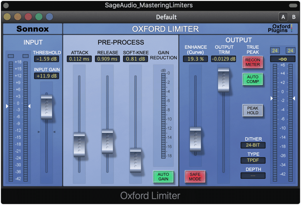 The Oxford Limiters has a specific and recognizable tone and timbre.