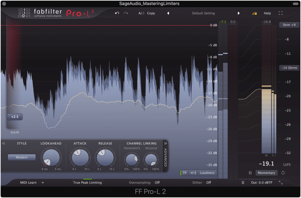 The Pro-L2 is a popular limiter due to its versatility.