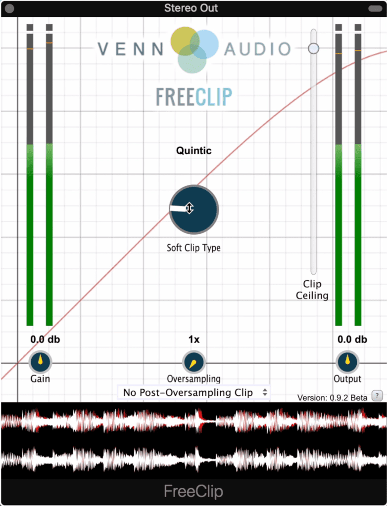 Free Clip lets you shape transients prior to limiting.